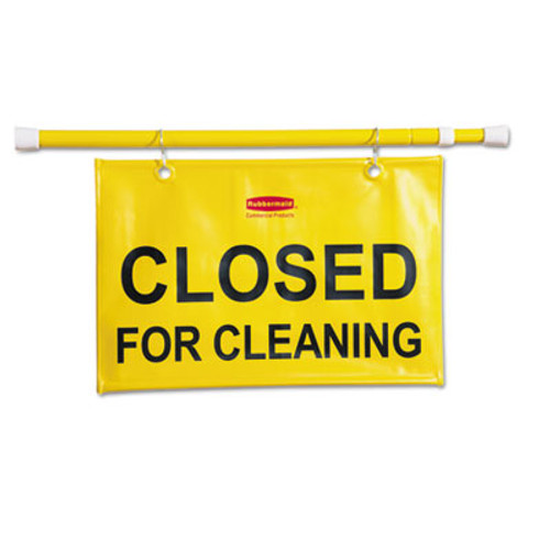 Rubbermaid Commercial Site Safety Hanging Sign  50w x 1d x 13h  Yellow (RCP 9S15 YEL)