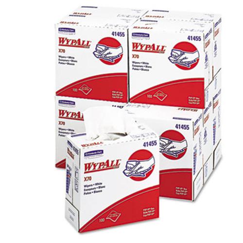 WypAll X70 Cloths  POP-UP Box  9 1 10 x 16 4 5  White  100 Box  10 Boxes Carton (KCC 41455)