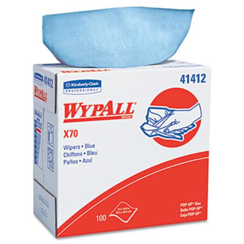WypAll X70 Cloths  POP-UP Box  9 1 10 x 16 4 5  Blue  100 Box  10 Boxes Carton (KCC 41412)