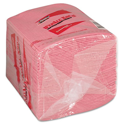 WypAll X80 Cloths  1 4 Fold  HYDROKNIT  12 1 2 x 12  Red  50 Box  4 Boxes Carton (KCC 41029)