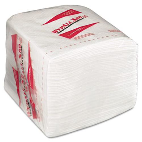 WypAll X80 Cloths  HYDROKNIT  1 4 Fold  12 1 2 x 12  White  50 Box  4 Boxes Carton (KCC 41026)
