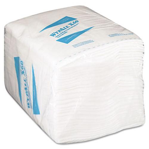 WypAll X60 Cloths  1 4 Fold  12 1 2 x 13  White  76 Box  12 Boxes Carton (KCC 34865)