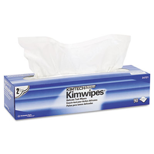 Kimtech Kimwipes Delicate Task Wipers  2-Ply  14 7 10 x 16 3 5  90 Box  15 Boxes Carton (KCC 34721)