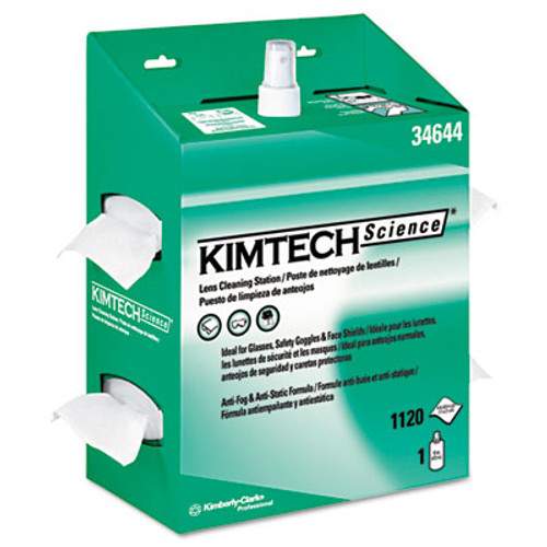 Kimtech* KIMWIPES Lens Cleaning, POP-UP Box, 1120 Wipes/Box, 4/Carton (KCC 34644)