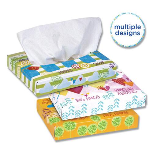 Kleenex White Facial Tissue Junior Pack  2-Ply  40 Sheets Box  80 Boxes Carton (KCC 21195)