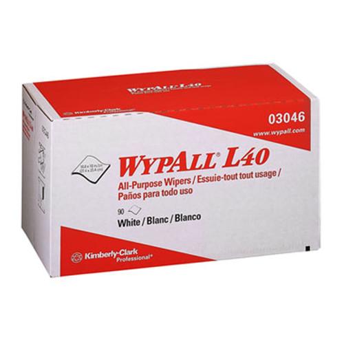 WypAll L40 Towels  POP-UP Box  White  10 4 5 x 10  90 Box  9 Boxes Carton (KCC 03046)