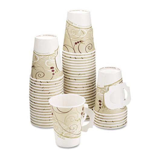 Dart Hot Cups  w Paper Handle  Symphony Design  8oz  Beige  1000 Carton (SCC 378HSMSYM)