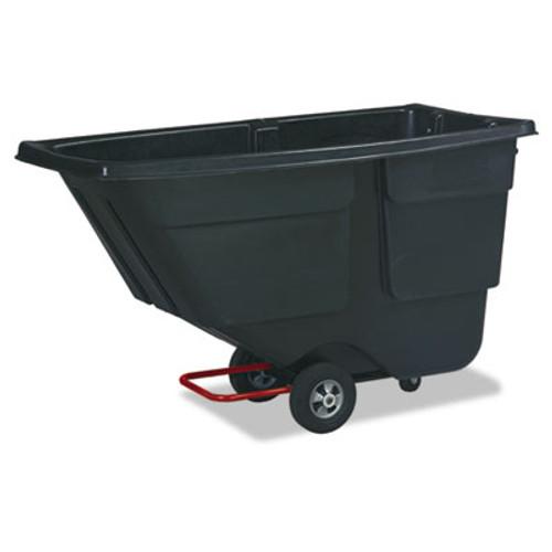Rubbermaid Commercial Rotomolded Tilt Truck  Rectangular  Plastic  600 lb Capacity  Black (RCP 9T18 BLA)