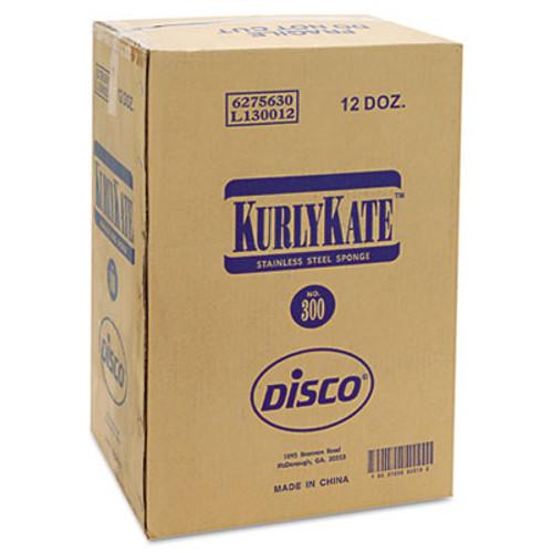 Kurly Kate Stainless Steel Scrubbers  Medium  Steel Gray  12 Carton (PUR 300)