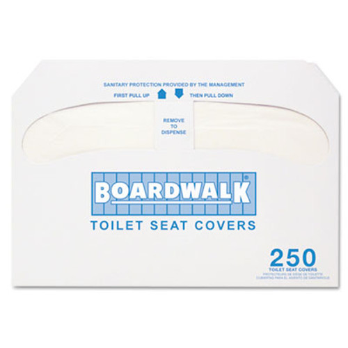 Boardwalk Premium Half-Fold Toilet Seat Covers  250 Covers Sleeve  4 Sleeves Carton (BWK K1000)