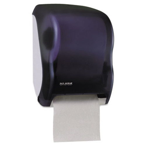 San Jamar Electronic Touchless Roll Towel Dispenser  11 3 4 x 9 x 15 1 2  Black (SAN T1300TBK)