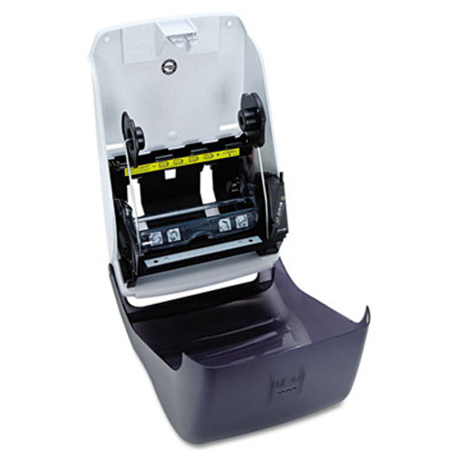 San Jamar Electronic Touchless Roll Towel Dispenser  11 3 4 x 9 x 15 1 2  Black (SAN T1300TBK)