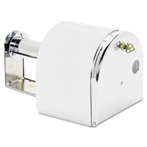 San Jamar Covered Reserve Roll Toilet Dispenser  10 x 6 1 4 x 6  Chrome (SAN R1500XC)