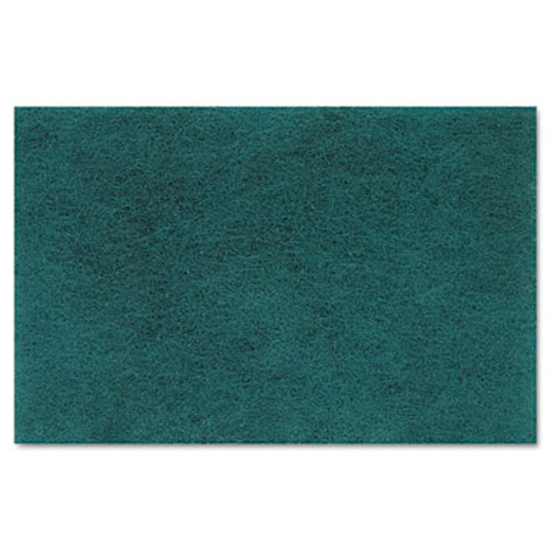 Boardwalk Medium Duty Scour Pad  Green  6 x 9  20 Carton (PAD 196)