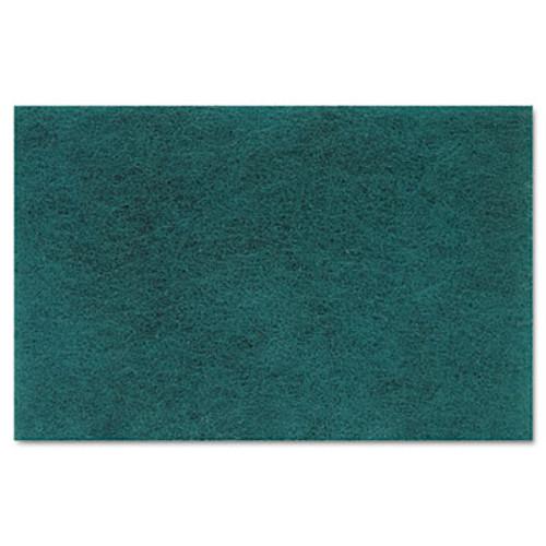 Boardwalk Medium Duty Scour Pad  Green  6 x 9  20 Carton (PAD 196)