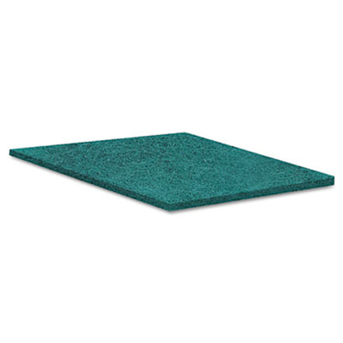 Boardwalk Medium Duty Scour Pad, Green, 6 x 9, 20/Carton (PAD 196)