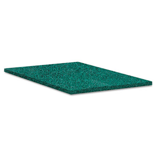 Boardwalk Heavy-Duty Scour Pad, Green, 6 x 9, 15/Carton (PAD 186)