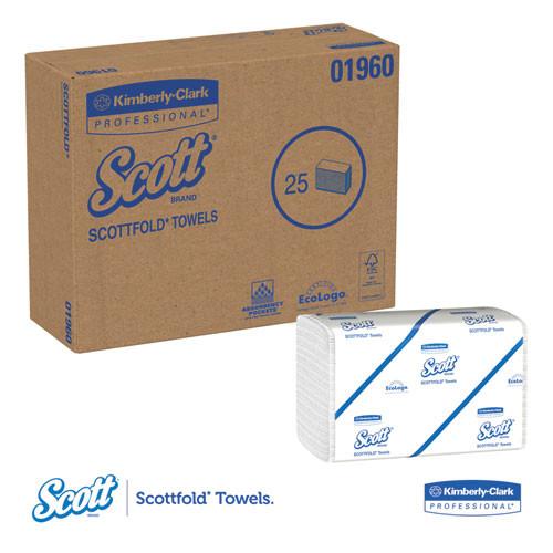 Scott Pro Scottfold Towels  7 4 5 x 12 2 5  White  175 Towels Pack  25 Packs Carton (KCC 01960)