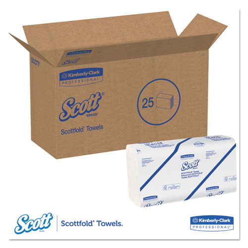 Scott Pro Scottfold Towels  9 2 5 x 12 2 5  White  175 Towels Pack  25 Packs Carton (KCC 01980)