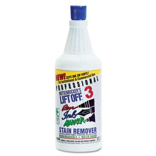 Motsenbocker's Lift-Off Lift Off  3  Pen  Ink   Marker Graffiti Remover  32oz Pour Bottle  6 Carton (MTS 40903)