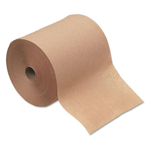 """Boardwalk Hardwound Paper Towels, 1-Ply, Kraft, 8"""" x 600ft, 12 Rolls/Carton (BWK 6260)"""
