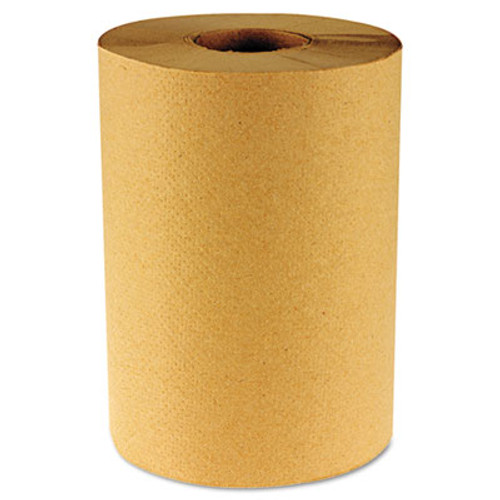 Boardwalk Hardwound Paper Towels, Nonperforated 1-Ply Kraft, 800ft, 6 Rolls/Carton (BWK 6256)