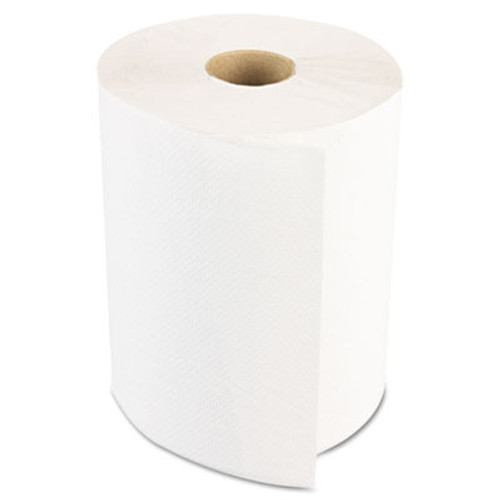 Boardwalk Hardwound Paper Towels, Nonperforated 1-Ply White, 350ft, 12 Rolls/Carton (BWK 6250)