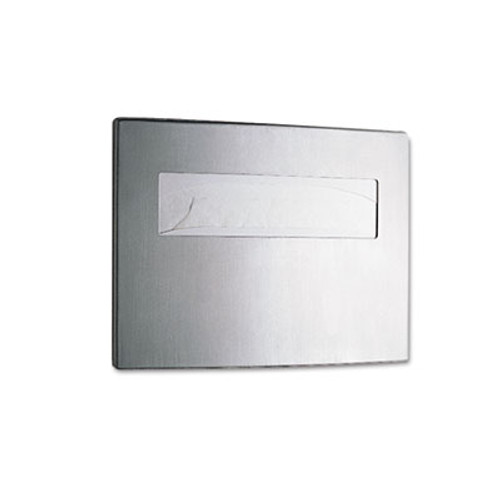 Bobrick Toilet Seat Cover Dispenser  15 3 4 x 2 1 4 x 11 1 4  Stainless Steel (BOB 4221)