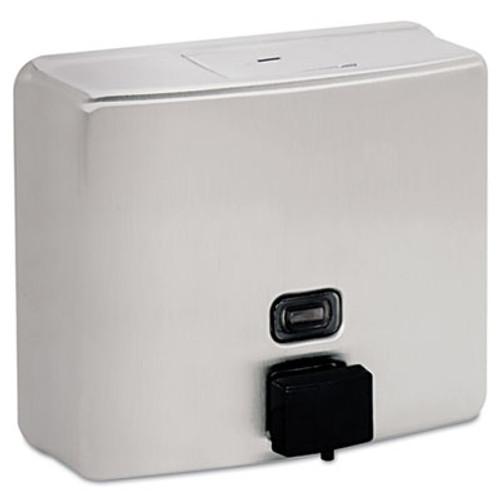 Bobrick ConturaSeries Surface-Mounted Soap Dispenser, 40oz, Stainless Steel Satin (BOB 4112)