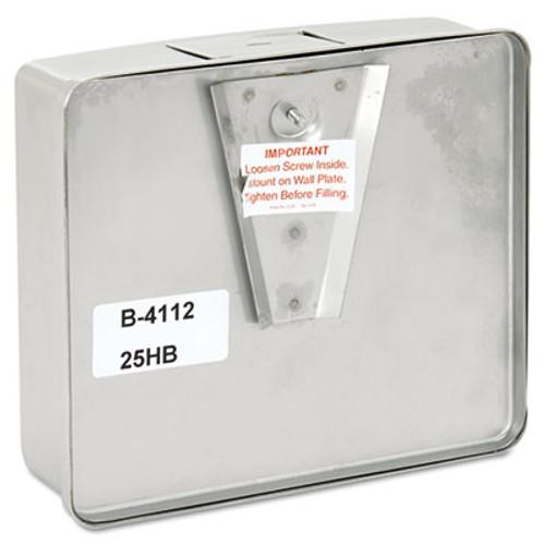 Bobrick ConturaSeries Surface-Mounted Liquid Soap Dispenser  40 oz  7  x 3 31  x 6 13   Stainless Steel Satin (BOB 4112)