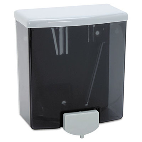 Bobrick ClassicSeries Surface-Mounted Liquid Soap Dispenser  40 oz  5 81  x 3 31  x 6 88   Black Gray (BOB 40)
