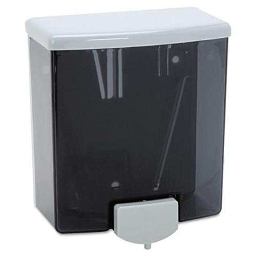 Bobrick ClassicSeries Surface-Mounted Liquid Soap Dispenser  40 oz  5 81  x 3 31  x 6 88   Black Gray (BOB 40)