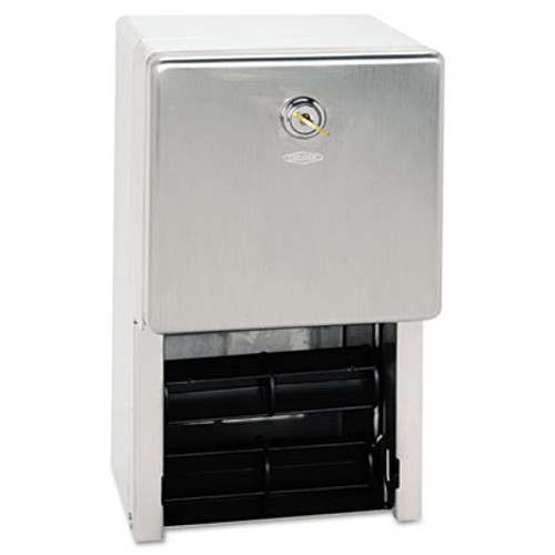 Bobrick Stainless Steel 2-Roll Tissue Dispenser  6 1 16 x 5 15 16 x 11  Stainless Steel (BOB 2888)