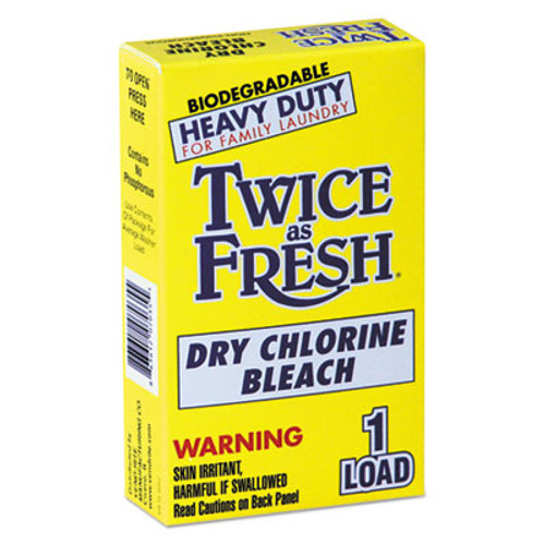 Twice as Fresh Heavy Duty Coin-Vend Powdered Chlorine Bleach  1 load  100 Carton (VEN 2979646)