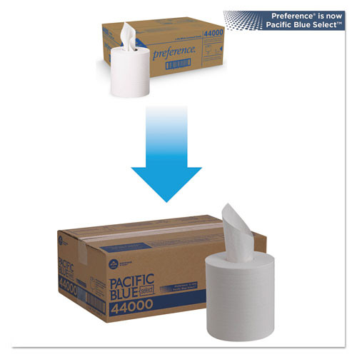 Georgia Pacific Professional Pacific Blue Select 2-Ply Center-Pull Perf Wipers 8 1 4 x 12  520 Roll  6 RL CT (GPC 440)
