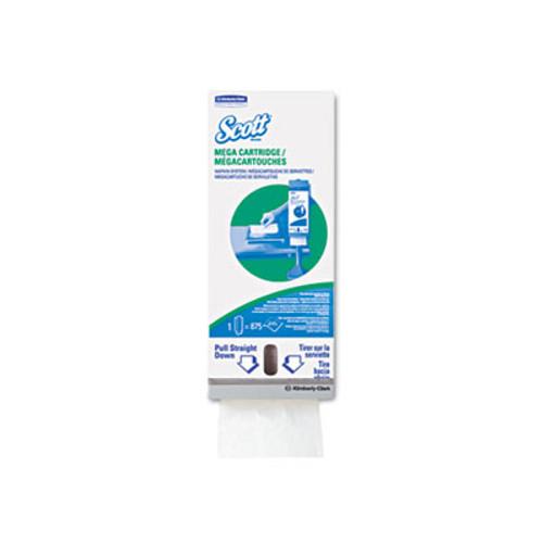 Scott MegaCartridge Napkins, 1-Ply, 8 2/5 x 6 1/2, White, 875/Pack, 6 Packs/Carton (KCC 98908)