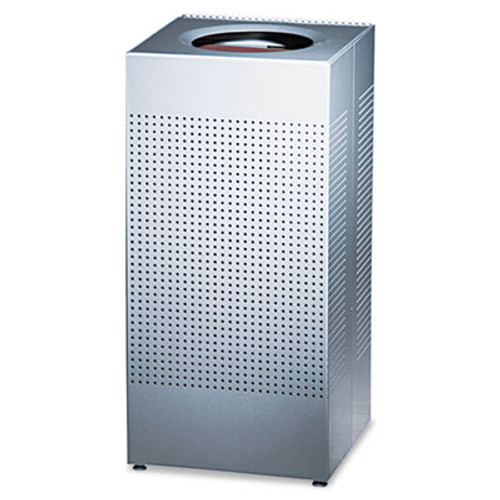 Rubbermaid Commercial Designer Line Silhouettes Receptacle  Steel  16 gal  Silver Metallic (RCP SC14EPLSM)
