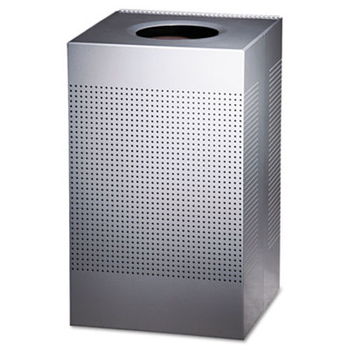 Rubbermaid Commercial Designer Line Silhouettes Receptacle  Steel  20 gal  Silver Metallic (RCP SC18EPLSM)