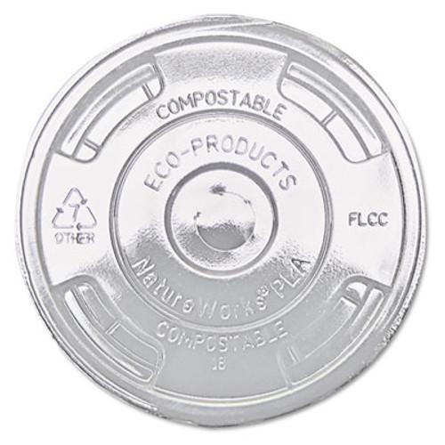 Eco-Products GreenStripe Renewable & Compost Cold Cup Flat Lids, F/9-24oz., 100/PK, 10 PK/CT (ECP EP-FLCC)