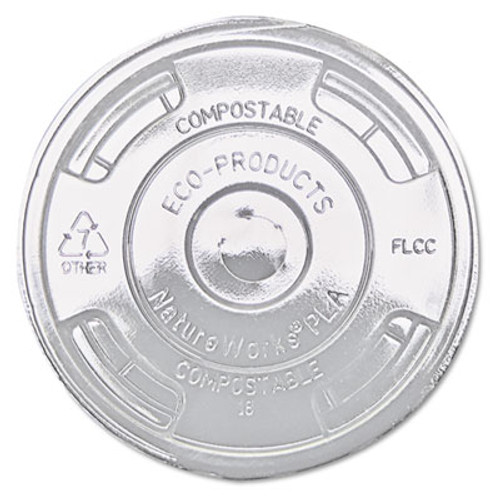 Eco-Products GreenStripe Renewable   Compost Cold Cup Flat Lids  F 9-24oz   100 PK  10 PK CT (ECP EP-FLCC)