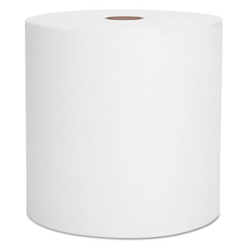 "Scott Hard Roll Towels, 8"" x 1000ft, Recycled, White, 6 Rolls/Carton (KCC 01005)"