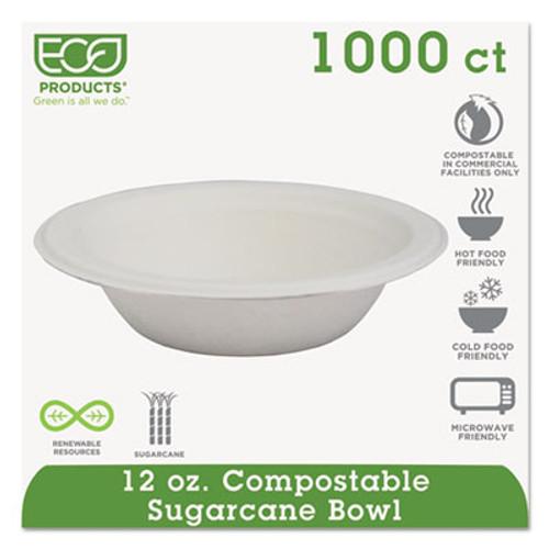 Eco-Products Renewable   Compostable Sugarcane Bowls - 12oz   50 PK  20 PK CT (ECP EP-BL12)