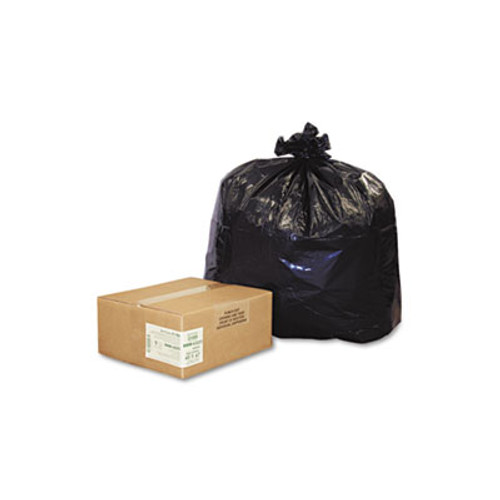Earthsense Commercial Linear Low Density Recycled Can Liners  56 gal  2 mil  43  x 47   Black  100 Carton (WEB RNW4320)