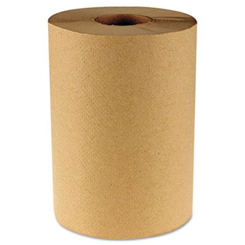 Boardwalk Hardwound Paper Towels  8  x 350ft  1-Ply Natural  12 Rolls Carton (BWK 6252)