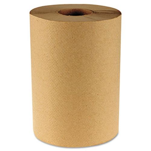 Boardwalk Hardwound Paper Towels  8  x 350ft  1-Ply Natural  12 Rolls Carton (BWK 6252)