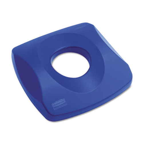 Rubbermaid Commercial Untouchable Recycling Tops  16 x 3 25  Blue (RCP 2691 BLU)