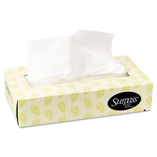 Surpass Facial Tissue  2-Ply  White  Flat Box  100 Sheets Box  30 Boxes Carton (KCC 21340)