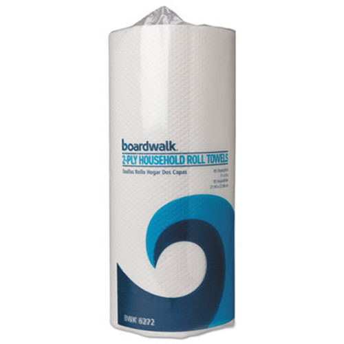 Boardwalk Household Perforated Paper Towel Rolls  2-Ply  11 x 9  White  85 Sheets Roll  30 Rolls Carton (BWK 6272)