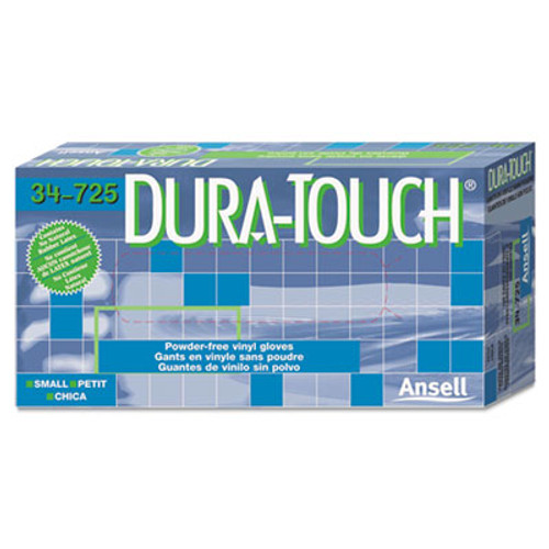 AnsellPro Dura-Touch 5 mil PVC Disposable Gloves, Small, Clear, 100/Box (ANS34725S)