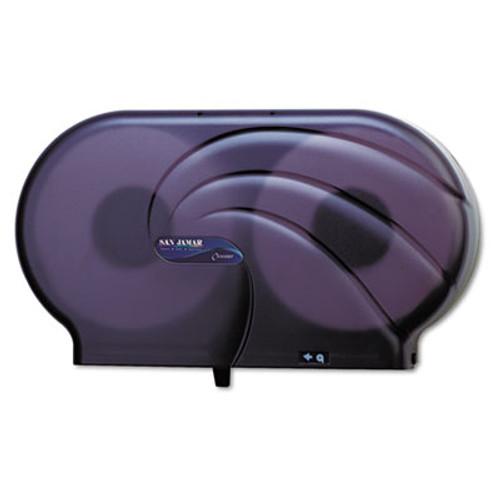 San Jamar Twin 9  JBT Toilet Tissue Dispenser  Oceans  19 x 5 1 4 x 12  Black Pearl (SAN R4090TBK)